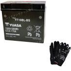 グローブ付! 台湾 YUASA ユアサ YT19BL-BS 初期充電済 即使用可能 互換 BMW 51913 K1100LT / RS (1990-1995) K1200LT K1200RS K1300GT EXIDE 61212346800