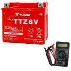【デジタルテスターセット】 台湾ユアサ YUASA TTZ6V バイクバッテリー充電済 【互換 YTZ6V FTZ6V GTZ6V YTX5L-BS】 即使用可能