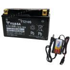 【バッテリー+P-Power充電器セット】 台湾ユアサ TTZ10S + PerfectPower バイクバッテリー充電器 互換 YTZ10S FTZ10S 初期充電済 即使用可能