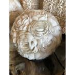 バリ製 テーブルランプ (S)ボール型 アジアンスタイル 貝がら シェル フラワーデザイン リゾート感