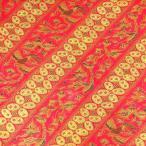 ショッピングプリント プリント バティック アジアン雑貨 インテリア 布 テーブルカバー に最適 インドネシア ジャワ 更紗 鳥と植物のモチーフ レッド