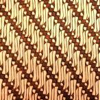ショッピングプリント プリント バティック アジアン雑貨 インテリア 布 ベッドカバー に最適 インドネシア ジャワ 更紗 パラン柄のモチーフ ブラウン