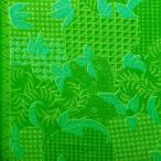 ショッピングプリント プリント バティック アジアン雑貨 インテリア 布 ベッドカバー に最適 インドネシア ジャワ 更紗 植物のモチーフ パターン3 グリーン