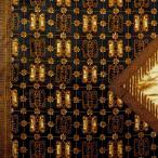 ショッピングプリント プリント バティック アジアン雑貨 インテリア 布 テーブルクロス カバー に最適 インドネシア ジャワ 更紗 花と蝶のモチーフ ブラックネイビー × ブラウン
