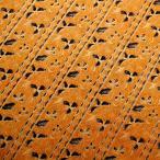 ショッピングプリント プリント バティック アジアン雑貨 インテリア 布 テーブルカバー に最適 インドネシア ジャワ 更紗 花と草のモチーフ イエロー