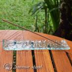 プルメリアのガラスお香立て インセンスホルダー バリガラス  バリ島 アジアン雑貨 バリ雑貨  go-19