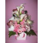 母の日ギフト  プレゼント 花   ピンクローズ バルーン&バルーン