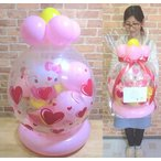 ショッピングバルーン 電報 結婚式 キティ桜の木の下で 女 誕生日 キティ 記念日 開店祝い 進級祝い 引越祝い お祝い