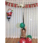 クリスマス 飾り 部屋 パーティー バルーン&デコレーションセット レターバナー ゴム風船 サンタ バルーン オーナメント 装飾