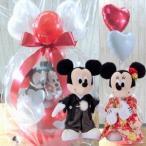 ショッピングバルーン 電報 結婚式 ディズニー ミッキーミニーの結婚式 バルーン電報 結婚祝い プレゼント 洋装 和装