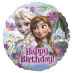 フローズンハッピーバースデー【ヘリウム入】 <風船/フィルムバルーン> <お祝い/誕生日/バースデー/キャラクター> <アナと雪の女王/Disney>
