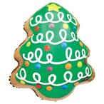 クリスマスツリークッキー 【ヘリウムなし】 <風船/フィルムバルーン/シーズン/クリスマス>