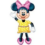 エアーウォーカーミニーマウス 風船/フィルムバルーン/お祝い/誕生日/バースデー/キャラクター