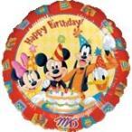 ミッキー&フレンズハッピーバースデー 45cmヘリウム入風船/フィルムバルーン/お祝い/誕生日/バースデー/キャラクター