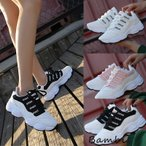 スニーカー レディース ダッドシューズ ローカット 軽量 厚底 白 歩きやすい 靴 スポーツの画像