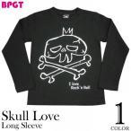 予約販売中☆ I love Rock'n Roll(スカルLOVE)ロングスリーブTシャツ -G- 長袖Tシャツ ロンT ロック バンド メンズ レディース