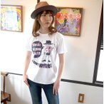 スカルTシャツ / Music do you like?? Tシャツ (ホワイト)-G- 半袖 ドクロ ギター プリント メンズ レディース おしゃれ 大きいサイズ