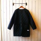 ウール×ナイロンノーカラーコート - ブラック/ARMEN/アーメン(NAM1651WJ)
