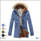 新作 メンズモッズコート ミリタリーコート ファーフード付き ミドル丈ジャケット スリム綿コート 暖かい 厚地 厚手裏起毛 立襟 防寒防風 4色