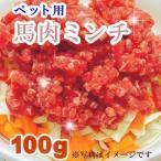 熊本直送  犬用 馬肉ミンチ【100g】手作りフード 冷凍生肉