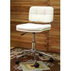 コンパクト オフィスチェア かわいい オシャレ な 回転椅子 昇降 機能 付き 座面高 40〜50cm 白色 回転 昇降 チェア AZ-301WH