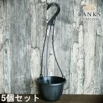 BC プラスチック製吊り鉢5個セット ハンギングポット バンクスコレクション