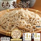 もち麦そば  つゆ付き4食セット 6食セット 麺のみ 送料無料 麺屋どんまい