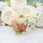 ショッピングマグ マグカップ おしゃれ プレゼント 葉型 薔薇 ローズ 花柄 ゴールドローズ