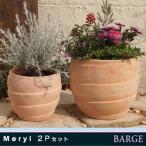 植木鉢 テラコッタ PJメリル 2点セット
