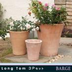 植木鉢 テラコッタ PJロングトム 3点セット