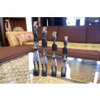 バリ島 木彫り人形 4体セット オブジェ