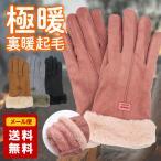 手袋 レディース スマホ手袋 スマートフォン対応手袋 グローブ 裏起毛 おしゃれ  あったかい かわいい 防寒 防風 女性用 上品 自転車 パーティー 送料無料