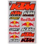 海外限定 / SS / PVC製 / RED BULL KTM レッドブル ロゴ ステッカー ORANGE カスタム MC ライダー 防水