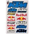 海外限定 / SS / PVC製 / RED BULL KTM レッドブル ロゴ ステッカー BLUE カスタム ライダー 防水仕様