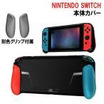 Nintendo Switch ケース カバー グリップカバー 本体カバー TPU プロテクター 衝撃吸収 取替グリップ 保護フィルム 収納ポーチ 付属  ニンテンドースイッチ