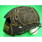 型付け無料 ゼット ZETT 海外モデル 硬式用 投手用 ブラック×イエロー糸 GOLD LINE QOALITY 高校野球対応カラー