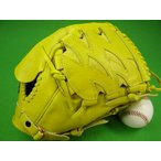 型付け無料 ゼット ZETT 海外モデル 硬式用 投手用 イエロー ファーストバック GOLD LINE QOALITY 高校野球対応カラー 9SP7111