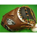 型付け無料 Louisville Slugger ルイスビルスラッガー 海外モデル キャッチャーミット ブラウン×ブラック×ホワイト 硬式野球対応