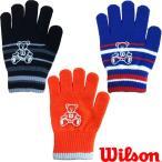 あすつく Bm限定 ウイルソン ベア のびのび ニット手袋 Wilson Bear wil16aw