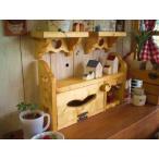 木製ラック テイッシュケース かわいい カントリー ティッシュBOXスタンドデザイン