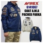 AVIREX アビレックス  6141067 GOAT A.W.A PACHED PARKA 山羊革 ゴートレザーパーカー 皮ジャン 5%OFF 送料無料