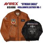 """AVIREX アビレックス 6151098 40th.ANNIV.LEATHER MA-1""""STREAK EAGLE"""" 5%OFF 送料無料"""