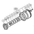 ●シマノ 11バイオマスター C3000(02754)用 純正標準スプール (パーツ品番105) 【キャンセル及び返品不可商品】