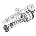 ●シマノ 11バイオマスター C3000SDH(02756)用 純正標準スプール (パーツ品番105) 【キャンセル及び返品不可商品】