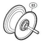 ●シマノ 11オシアジガー2000NR-PG(02763)用 純正標準スプール (パーツ品番105) 【キャンセル及び返品不可商品】