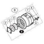 ●シマノ 13 バンキッシュリミテッドエディション C2000HGS (03234)用 純正標準スプール (パーツ品番105) 【キャンセル及び返品不可商品】