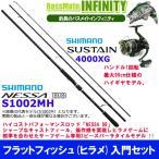 【フラットフィッシュ(ヒラメ)入門セット】●シマノ NESSA 熱砂 ネッサBB  S1002MH+シマノ 17 サステイン 4000XG