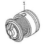 ●ダイワ 14インパルト3000H-LBD(4960652956086)用 純正標準スプール (部品コード128866) 【キャンセル及び返品不可商品】