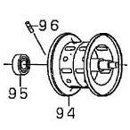 ●ダイワ 13スマック100SH-L(4960652932684)用 純正標準スプール (部品コード129557) 【キャンセル及び返品不可商品】
