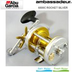 ●アブガルシア Abu アンバサダー 6500C Rocket Silver (ロケット シルバー) 【まとめ送料割】